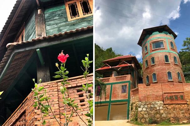 色彩风景 红砖房子