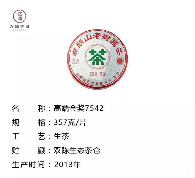 双陈味(7)2013年高端金奖7542,班章与班盆的深林野韵