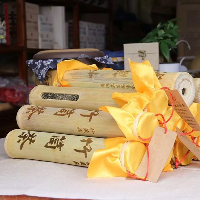 云章竹筒茶匠心工艺,茶与竹的完美融合