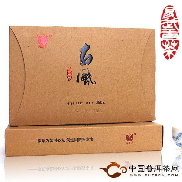 云南普洱茶书呆子刮风寨古风茶砖介绍