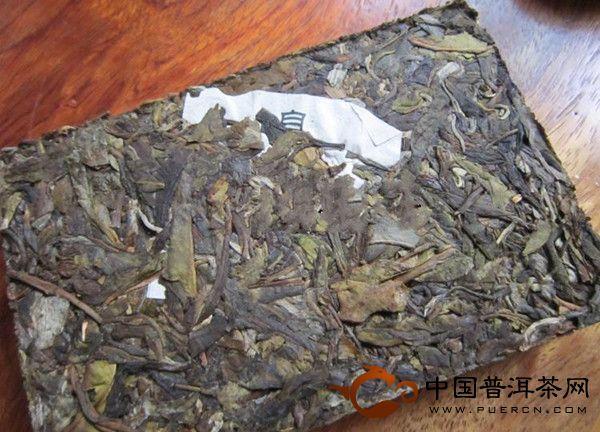 老曼峨普洱茶古茶生砖