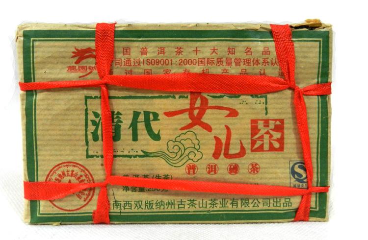 2008年龙园号普洱茶勐海龙园茶厂清代女儿砖
