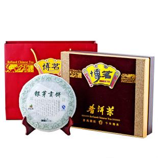 2011年龙宝茶厂新益号普洱茶银芽贡饼礼盒