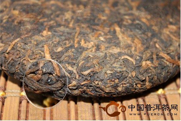 7018普洱贡饼老同志普洱茶海湾茶厂2007年