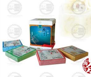 梅兰竹菊礼盒老同志普洱茶海湾茶厂2008年