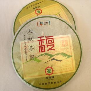 中茶牌普洱茶天赋茶园馥饼昆明茶厂2012年
