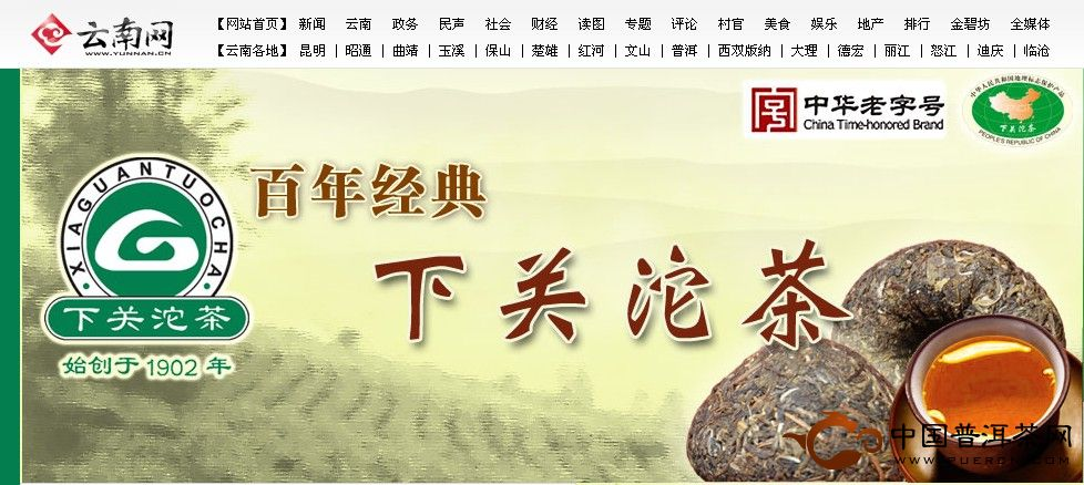 云南网下关沱茶专区正式开通