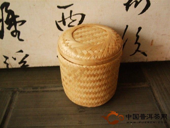 竹篓原生态普洱茶礼盒