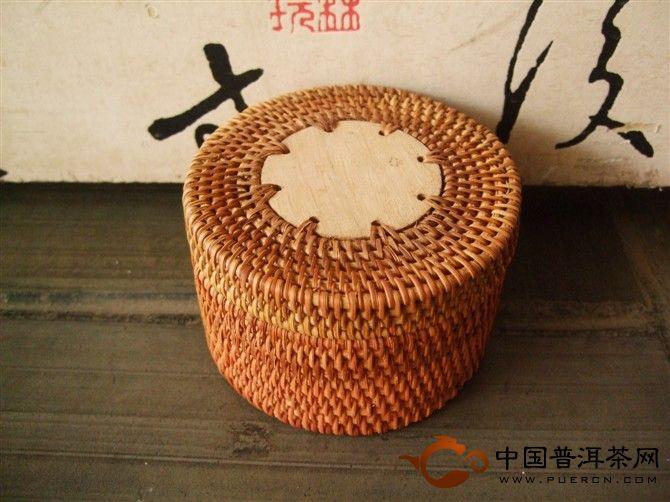 普洱茶礼盒之竹篓原生态礼盒