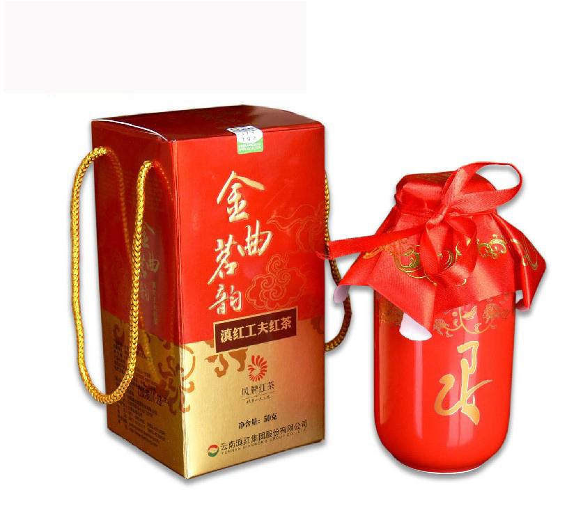 凤牌滇红茶金曲茗韵50克2012年凤庆茶厂云南滇红集团