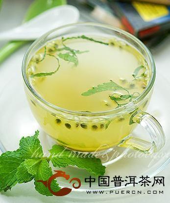 百香薄荷茶;;