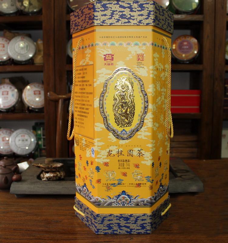 大益普洱茶大龙柱圆茶357克2012年勐海茶厂