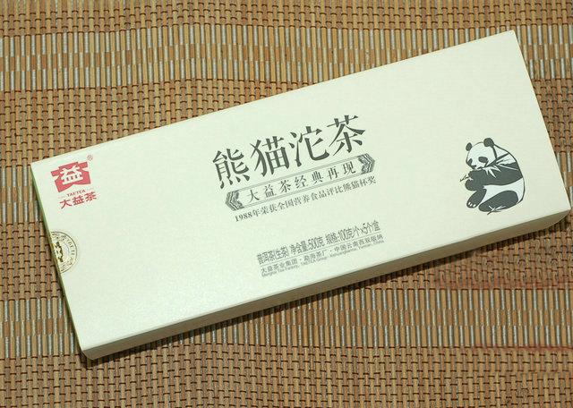 大益普洱茶熊猫沱100克生茶201批2012年勐海茶厂