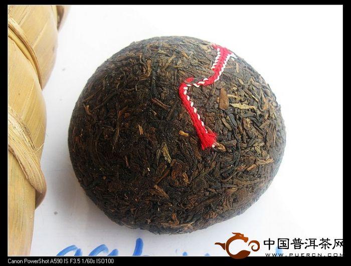 勐海茶厂150克红丝带沱开汤