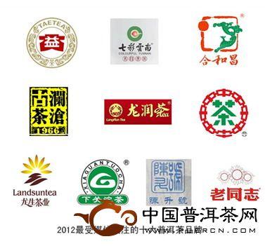 2012年最受媒体关注的十大普洱茶品牌
