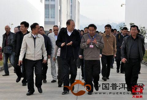 云南省副省长孔垂柱莅临勐海茶厂考察指导工作