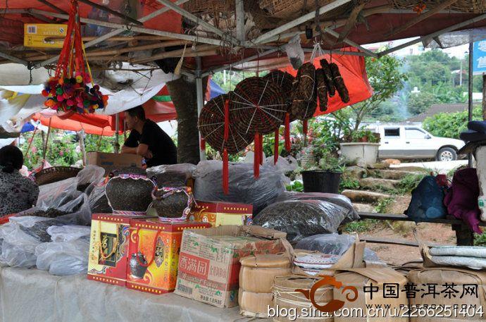 勐海县路边南糯山的小市场