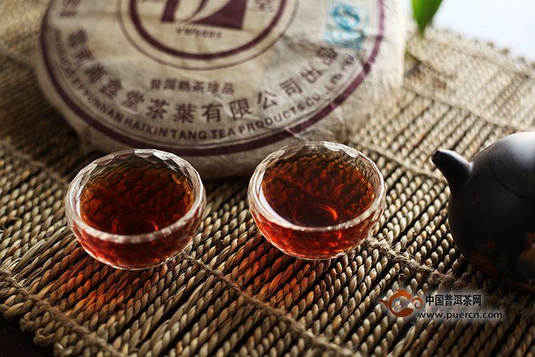 2007年海鑫堂易武老树熟茶饼 (熟茶)500克