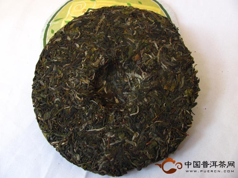 2012年中茶牌普洱茶早春圆茶昆明茶厂(生茶) 357克