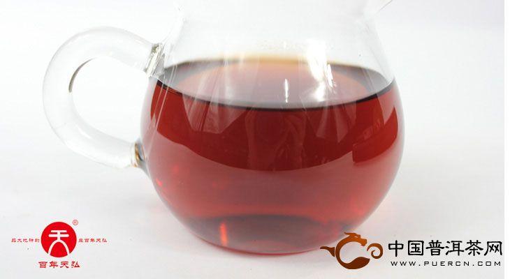 2007年天弘茶业茶马贡饼(熟茶) 357克