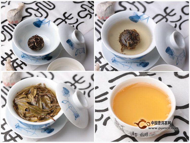 2013年书剑普洱布朗古树茶逍遥丹生茶8克