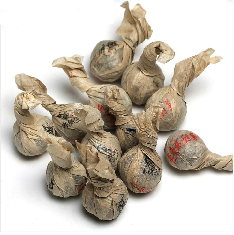 2013年书剑普洱老曼娥甜茶逍遥丹(生茶)8克