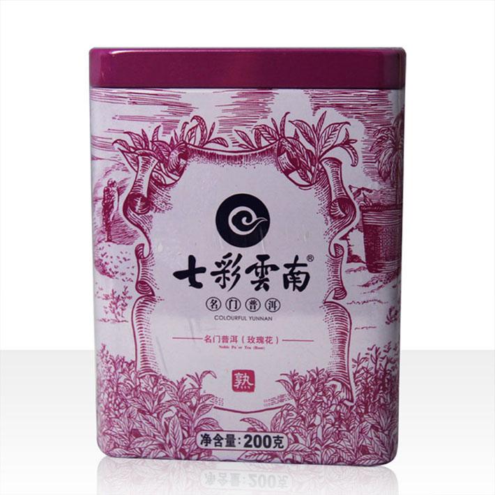 2013年七彩云南名门普洱玫瑰散茶(熟茶)200克