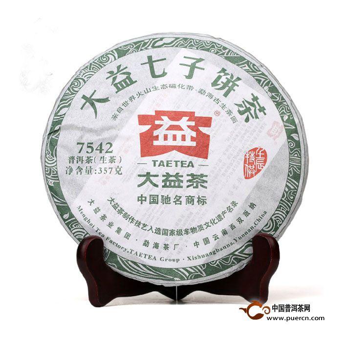 2012年大益7542(生茶)203批357克