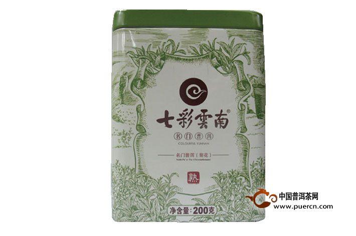 2013年七彩云南名门普洱菊花散茶(熟茶)200克