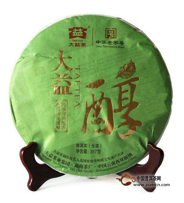 2011年大益醇(生茶)101批357克