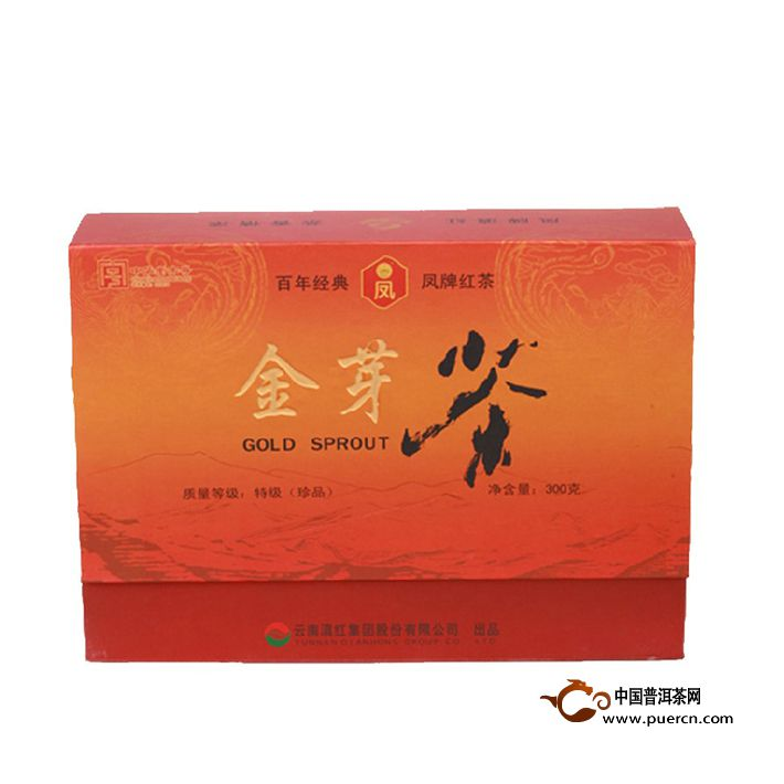 2013年凤牌滇红金芽茶礼盒 300克