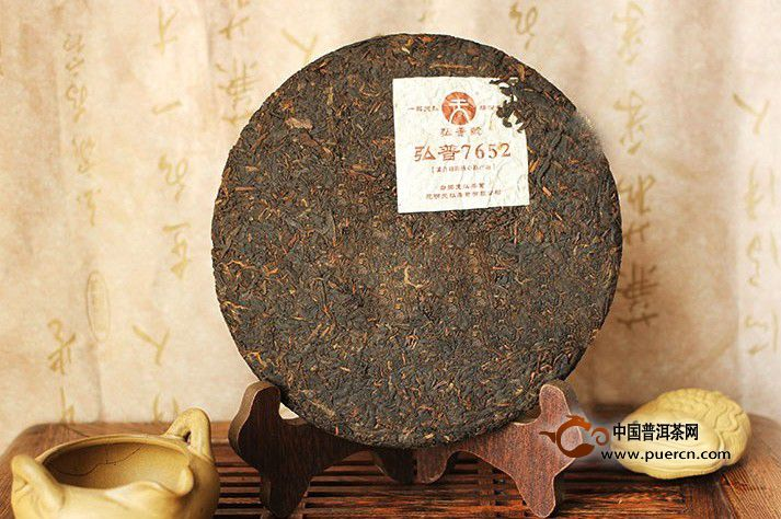 2012年天弘弘普7652(熟茶)357克