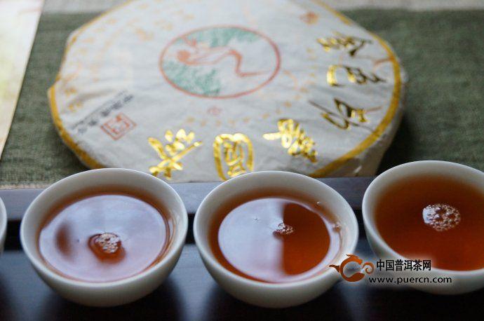 下关2012金色印象圆茶:值得细细品味