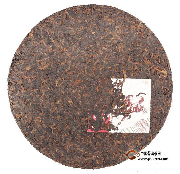 2014年中茶一马当先熟茶357克 3