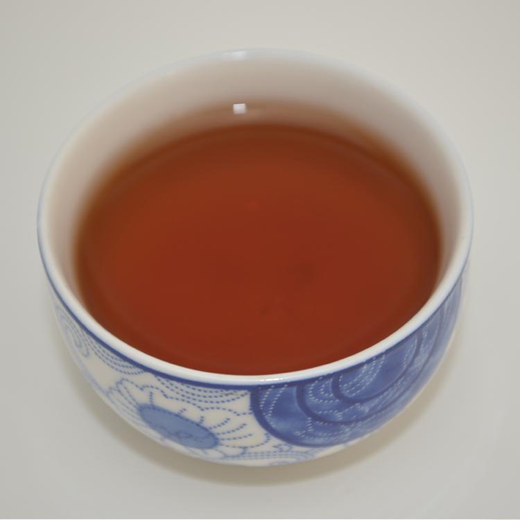 2014年福元昌马年贺岁饼福马送禧(熟茶)357克 开汤图