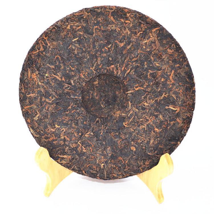 2013年老同志普洱贡饼(熟茶)400克 饼图