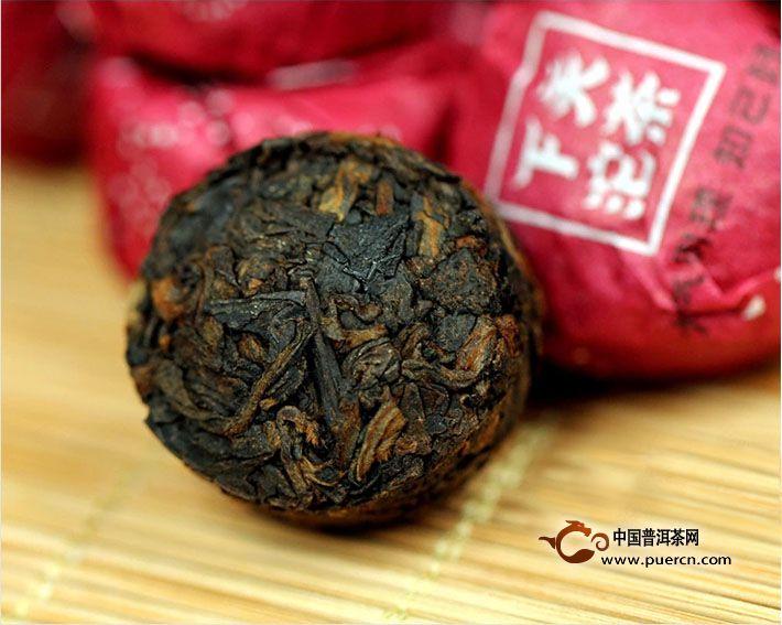 2014年下关子珍尚品小沱茶熟茶 5