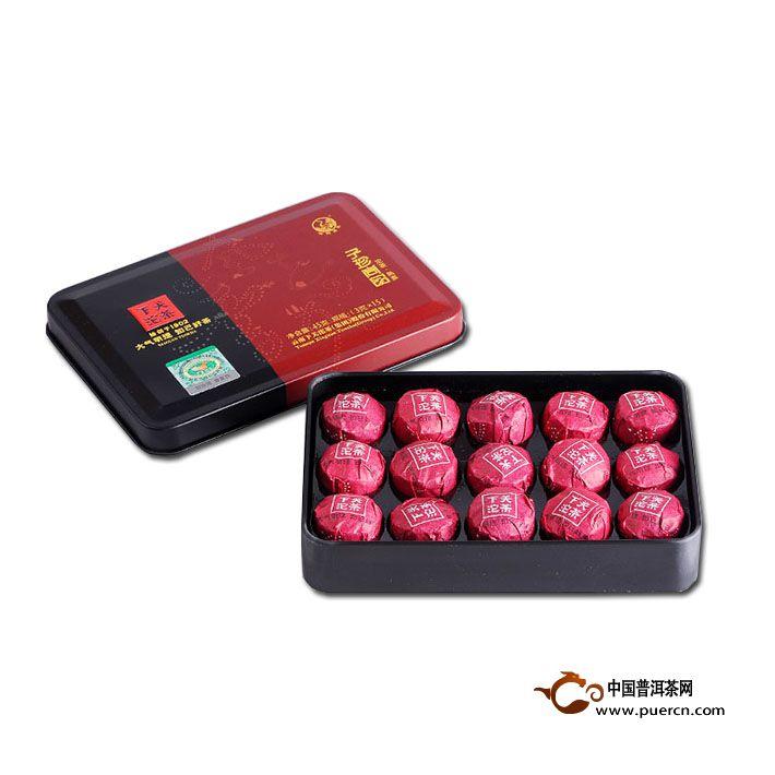 2014年下关子珍尚品小沱茶熟茶3