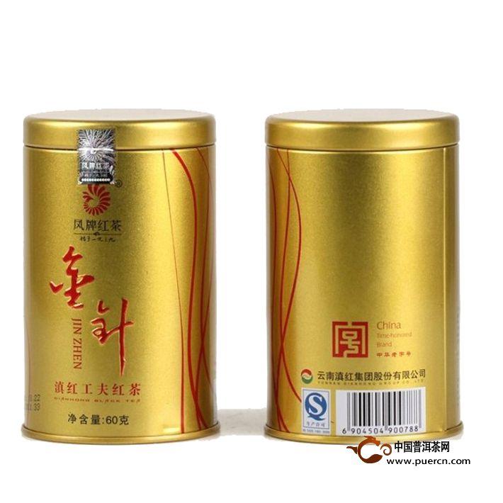 2014年凤牌滇红茶金针(听装)60克