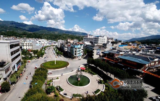 凤庆茶山风景图