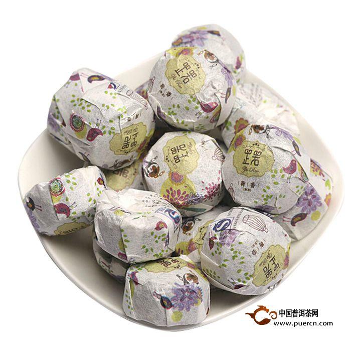 2013年书剑芷若小沱荷香(熟茶)约200克2013年书剑芷若小沱荷香(熟茶)约200克