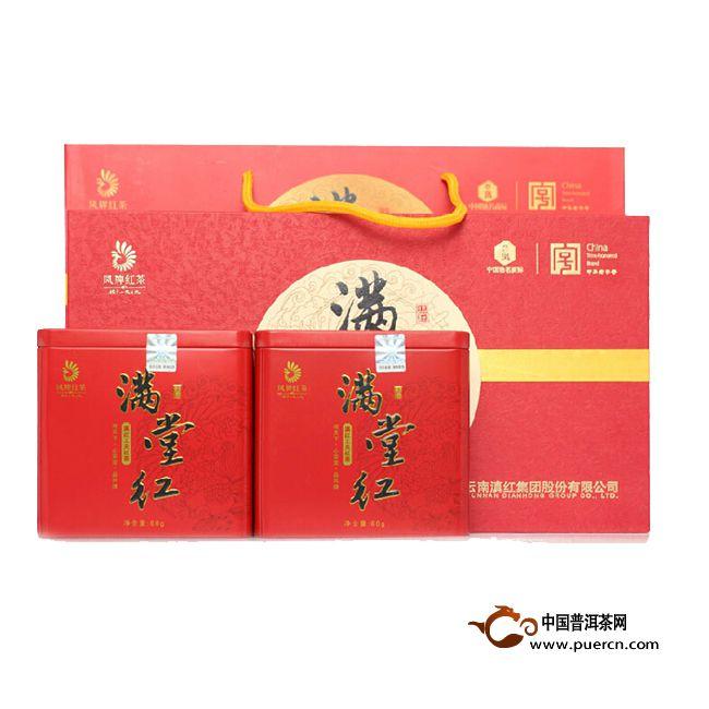 2014年凤牌滇红满堂红 120克
