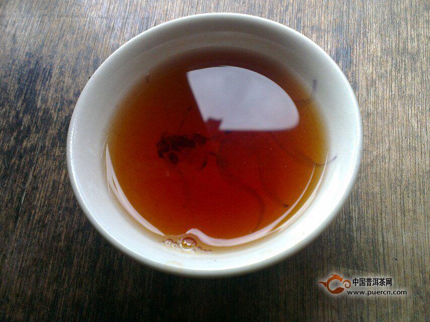 中茶昆明茶厂7581砖开汤