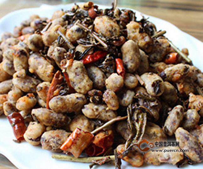 普洱茶酥红豆的美食