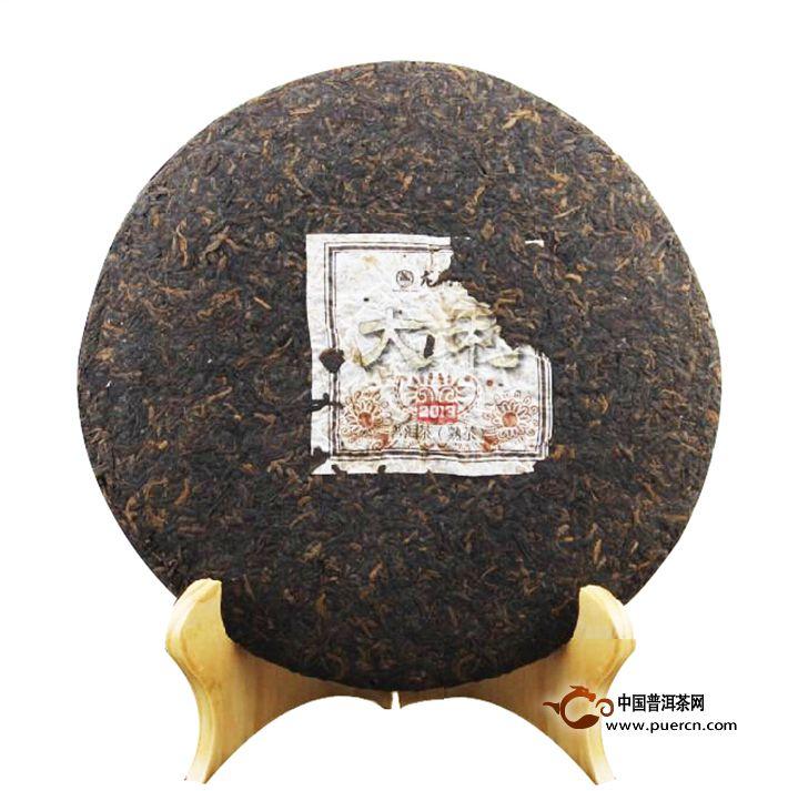 2013年龙润大利熟茶357克熟茶2
