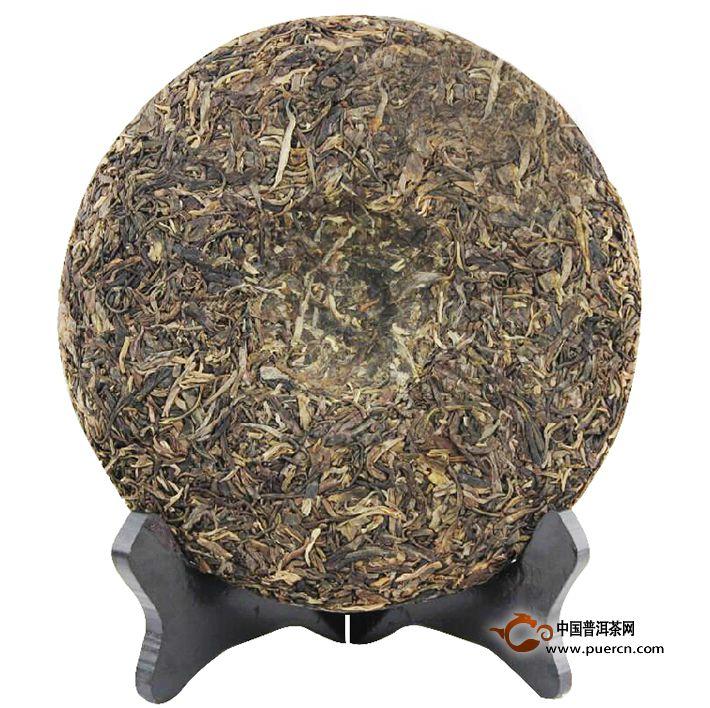 2011年龙润春晖生茶357克茶饼背面