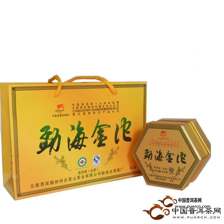 2012年龙园号普洱茶勐海金沱(生茶)300克