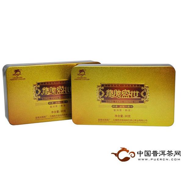 2012年龙园号龙腾盛世糯香小金沱(熟茶) 90克