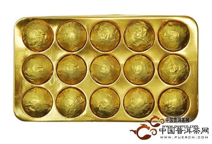 2012年龙园号龙腾盛世陈香勐海小金沱(熟茶)90克