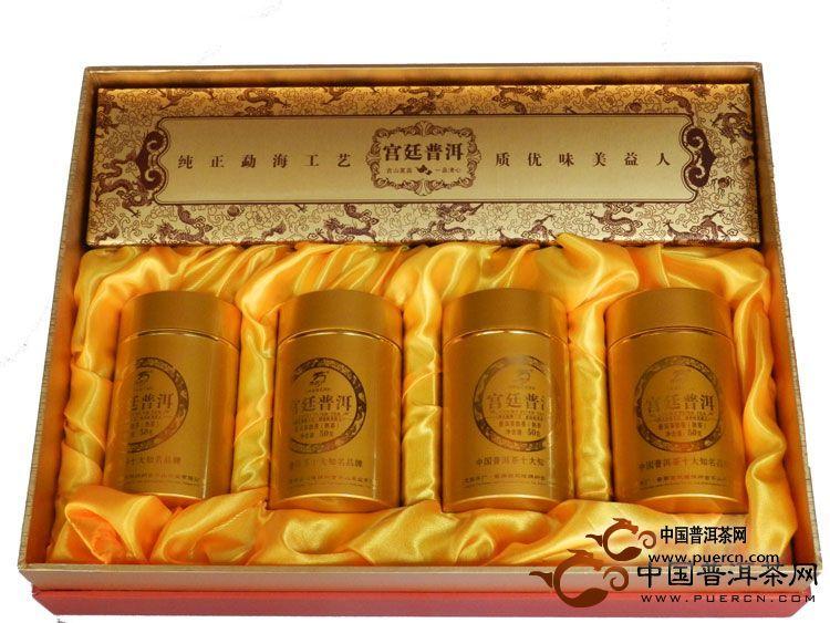 2012年龙园号宫廷普洱礼盒(熟茶)200克